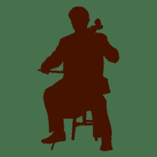 Musician music doublebass silhouette