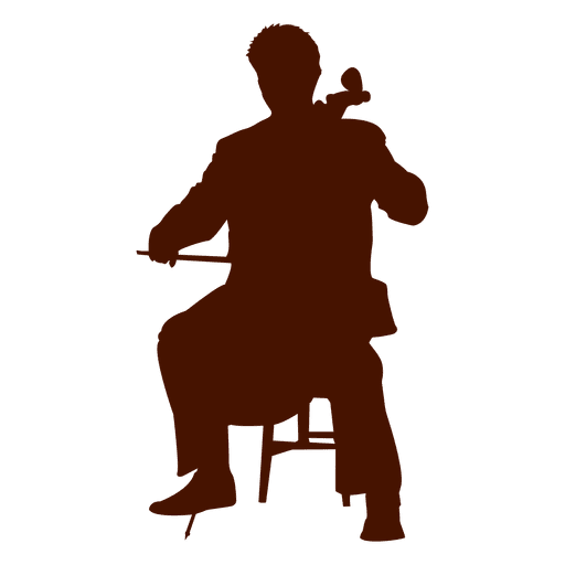 Silhueta de doublebass de músico Transparent PNG