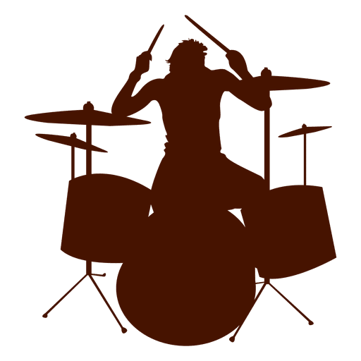Musician music drums silhouette - Transparent PNG & SVG vector