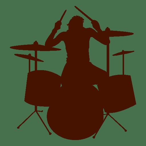 Silhueta de tambores de música de músico Transparent PNG