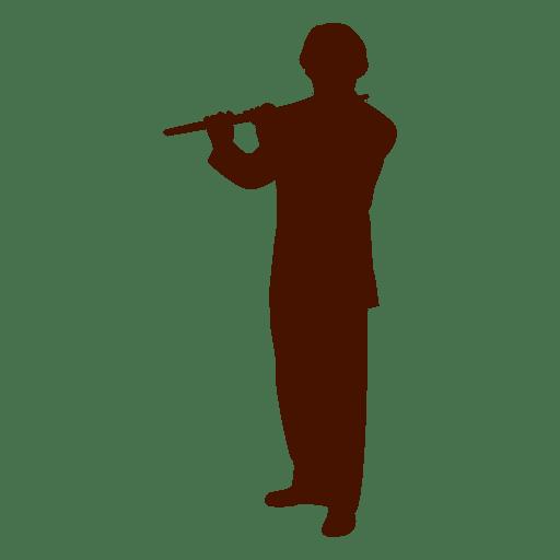 Musician music flute art silhouette png