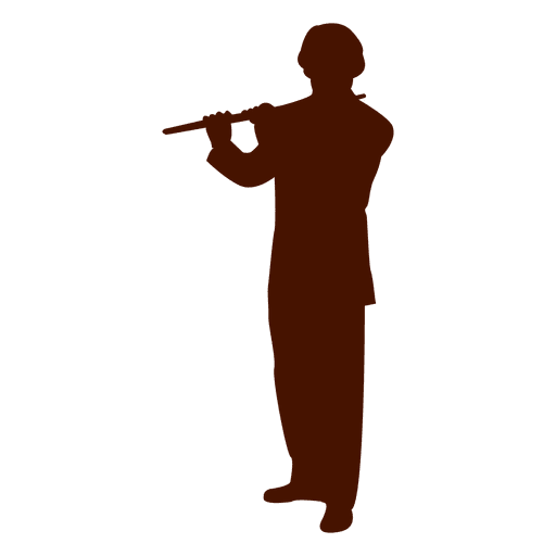 Musician music flute art silhouette