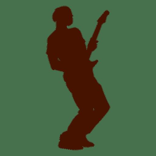 Silhueta de guitarra de músico de música Transparent PNG
