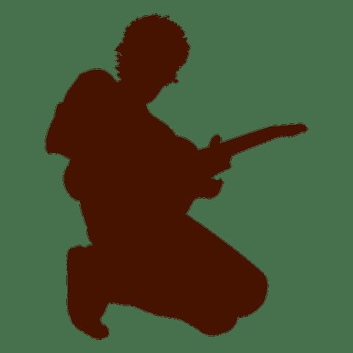 Musician music guitar silhouette design
