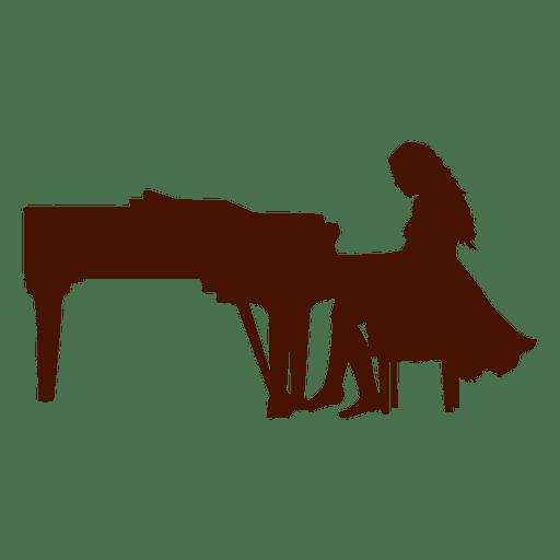 Musician music piano silhouette
