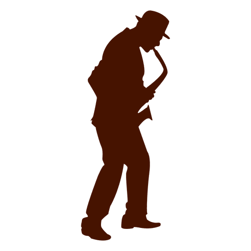 Musician music saxophone silhouette Transparent PNG