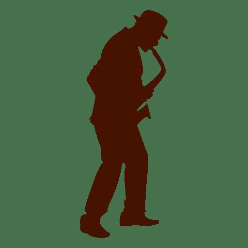Silhueta de saxofone de música de músico Transparent PNG