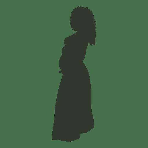 Silhueta de mulher grávida Transparent PNG