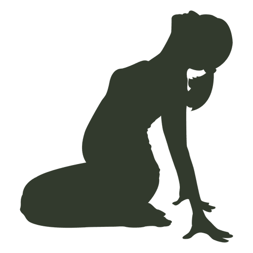 Pregnant woman silhouette streching Transparent PNG