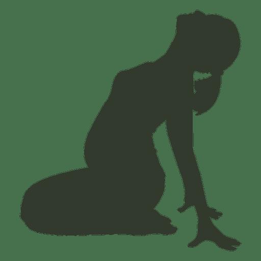 Silhueta de mulher grávida streching Transparent PNG