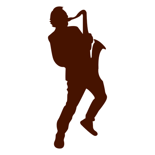 Saxophone musician music silhouette Transparent PNG