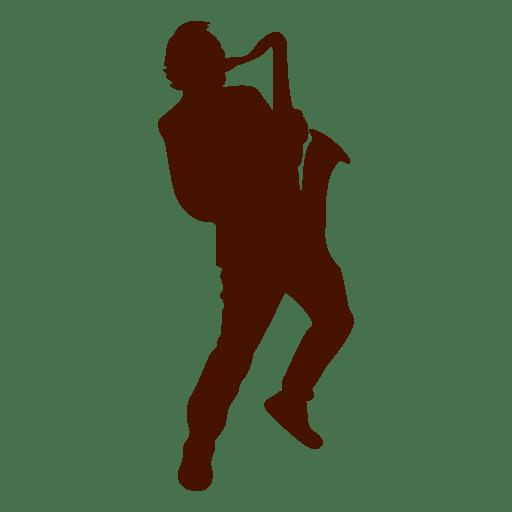 Silhueta de música de músico de saxofone Transparent PNG