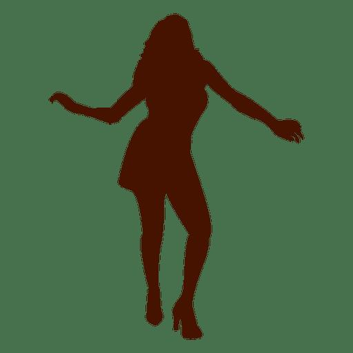 Mujer bailando silueta 10 Transparent PNG