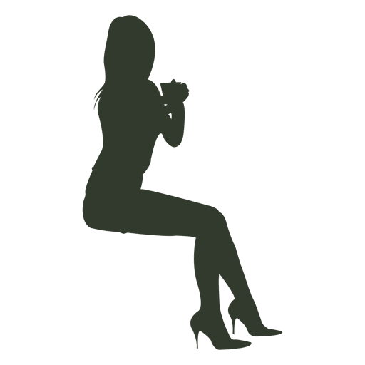Woman sitting silhouette Transparent PNG