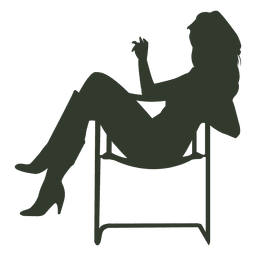 Woman sitting silhouette relaxed