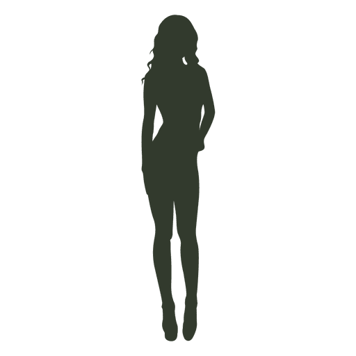 Woman standing pose silhouette attractive Transparent PNG