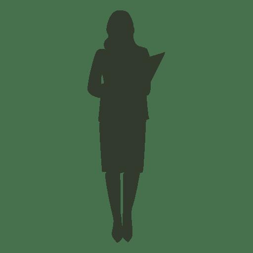 Negocio de la silueta de la actitud de la situación de la mujer Transparent PNG