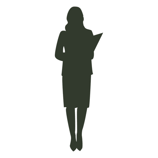 Woman standing pose silhouette business