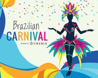 Ilustração colorida de carnaval