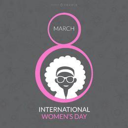 Internationaler Frauentag desgin