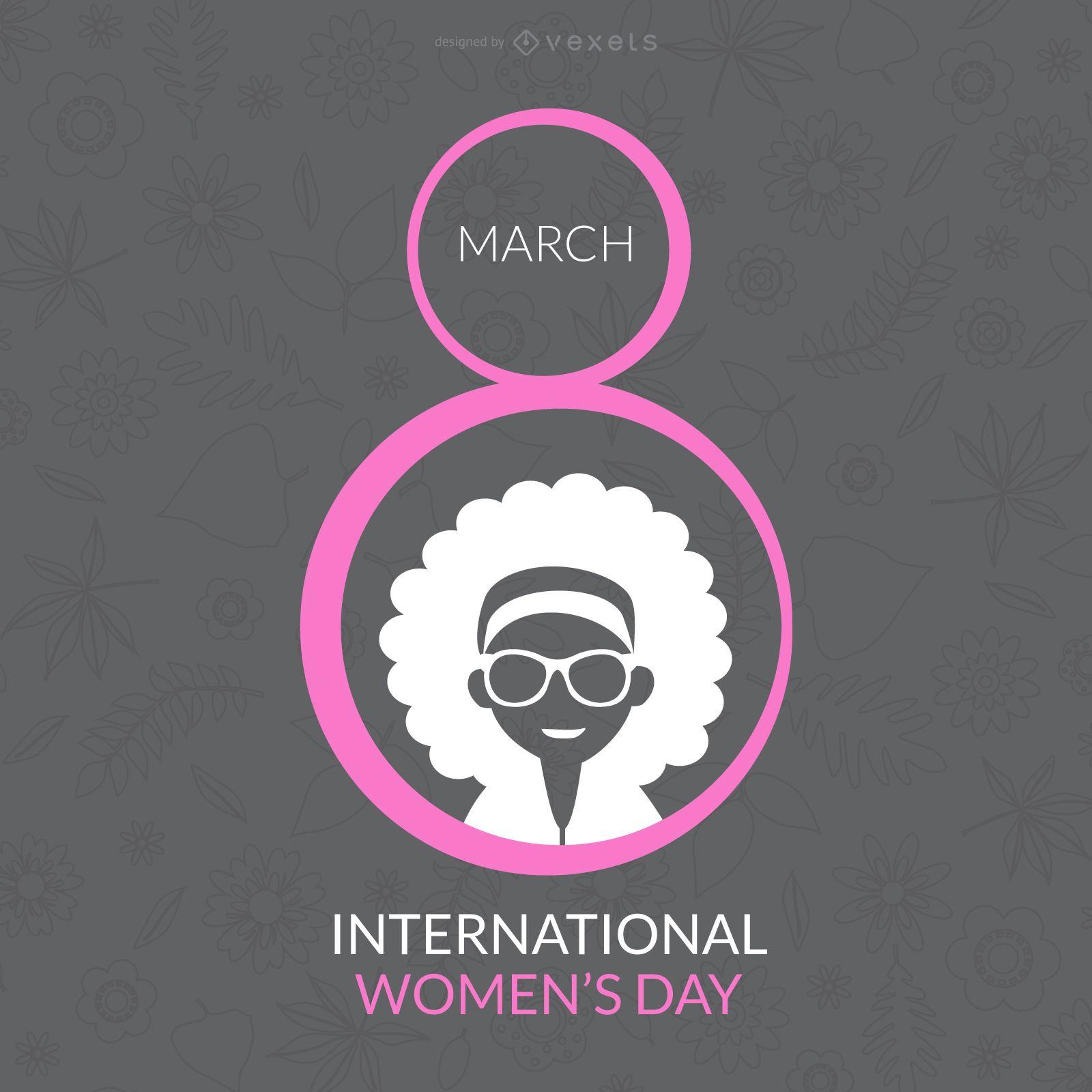 Desgin do Dia Internacional da Mulher