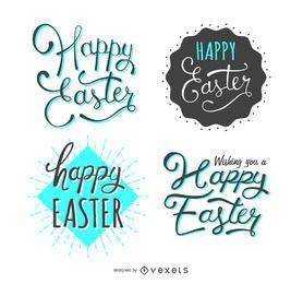 Set von 4 Ostern-Etiketten