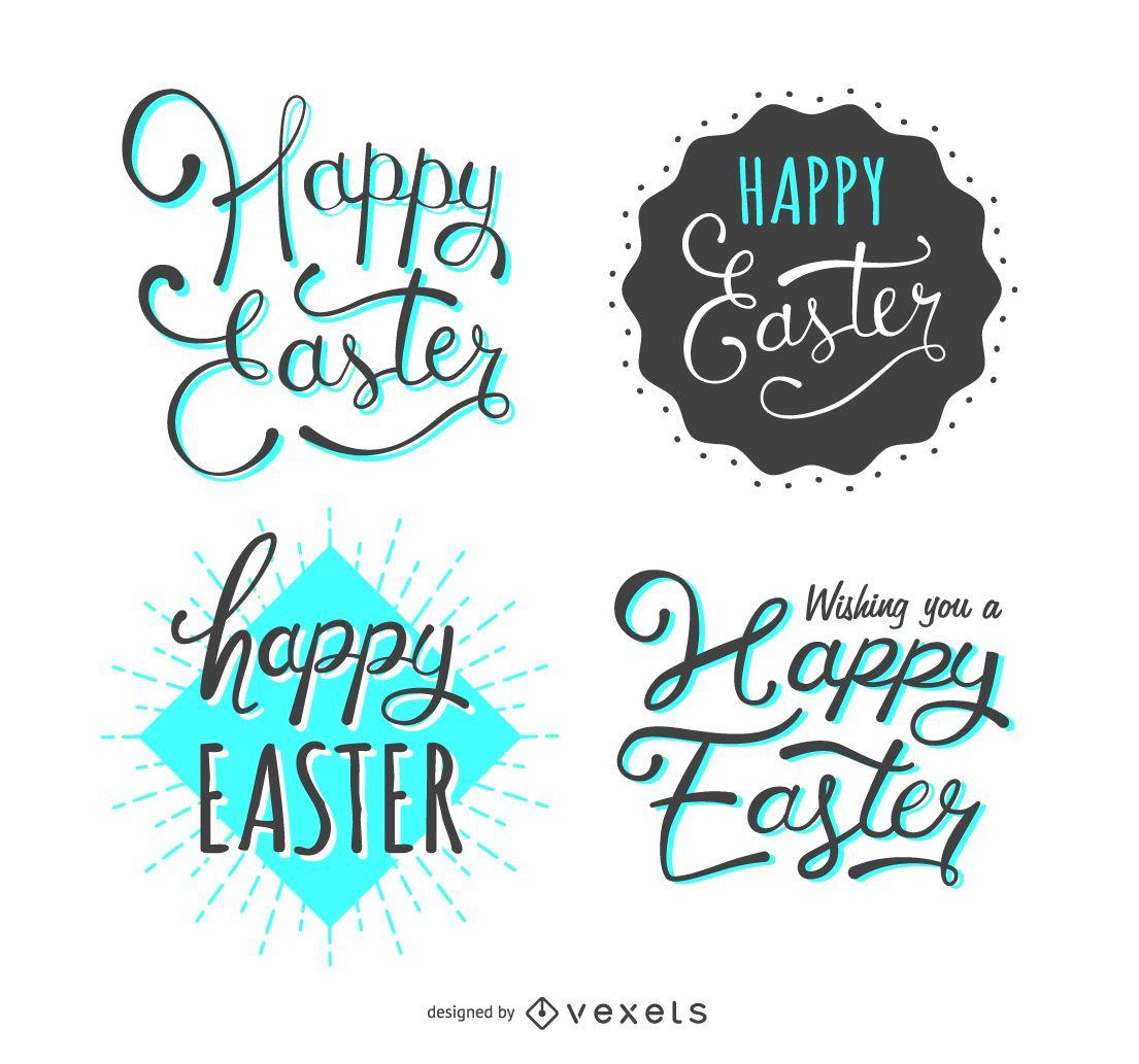 Set of 4 Easter labels