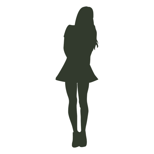 Woman standing pose silhouette sexy Transparent PNG