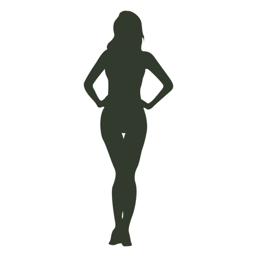 Mujer de pie pose silueta triángulo Transparent PNG