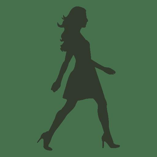 Woman walking pose silhouette dress
