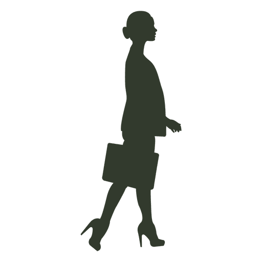 Woman walking pose silhouette executive Transparent PNG