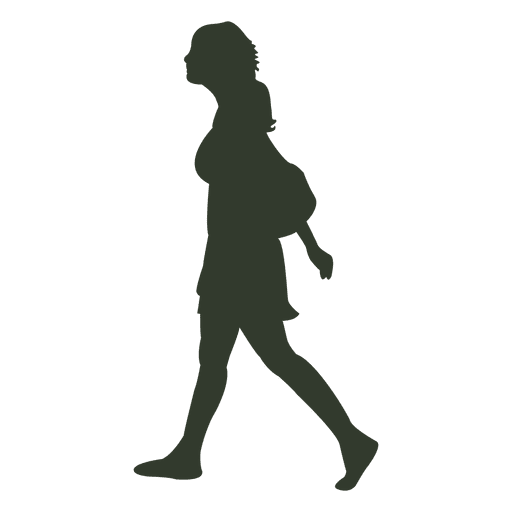 Woman Walking Pose Silhouette School Transparent Png