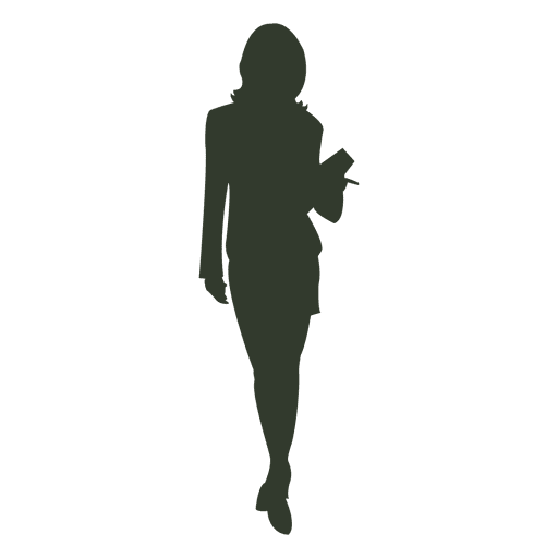 Woman working silhouette standing Transparent PNG