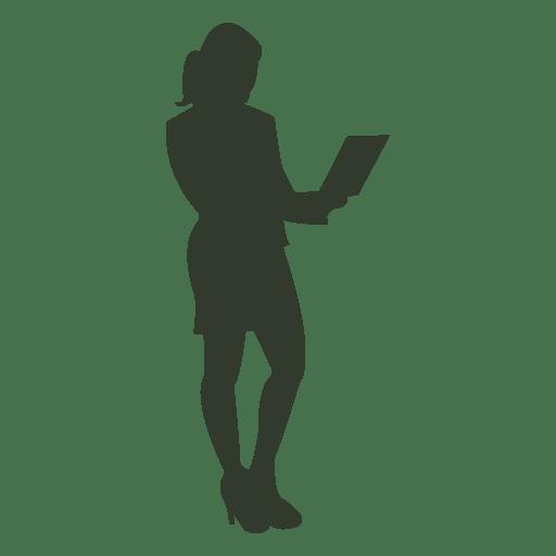 Cuaderno de silueta de mujer trabajadora Transparent PNG