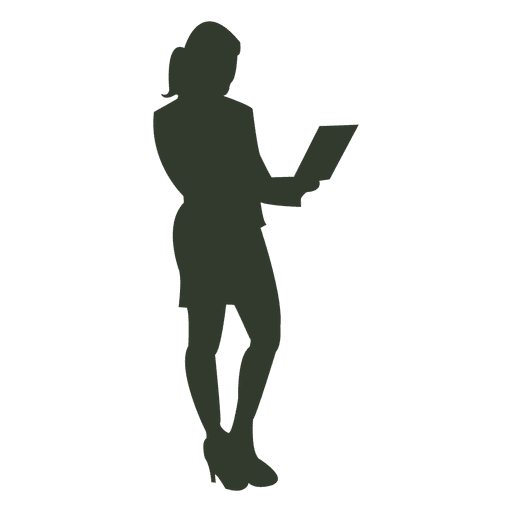 Working woman silhouette notebook