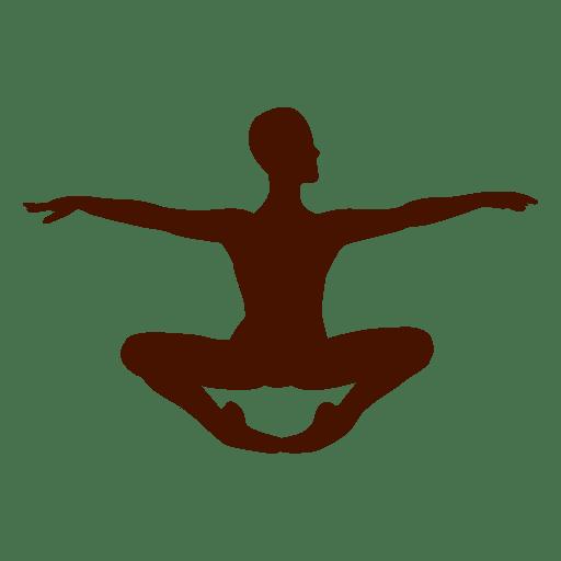 Silueta humana de yoga Transparent PNG