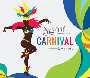 Ilustração do carnaval brasileiro
