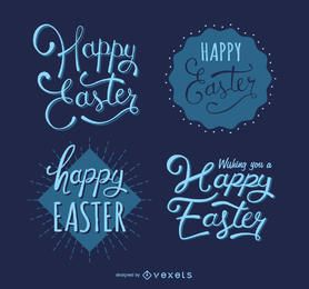 Hipster Easter label set