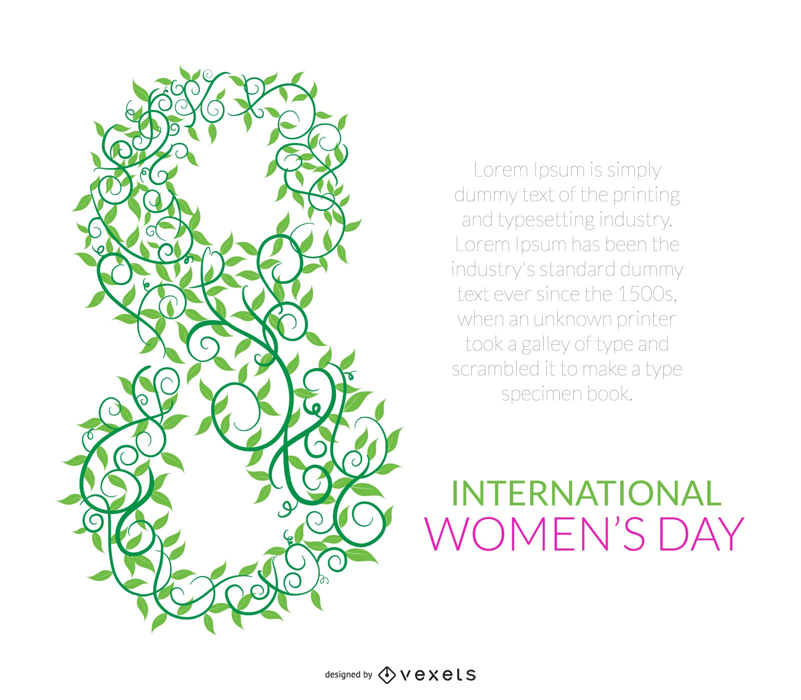 Women's Day nature poster