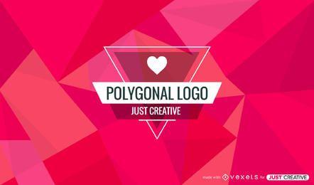 Creador de credenciales con fondos poligonales para JustCreative