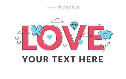Creador de carteles del día de San Valentín