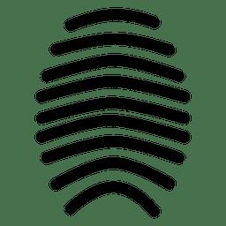 Línea de huella digital minimalista.