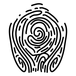 Diseño de líneas de huella digital.