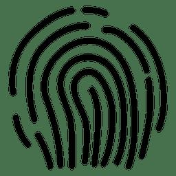 Dibujo de líneas de huella digital