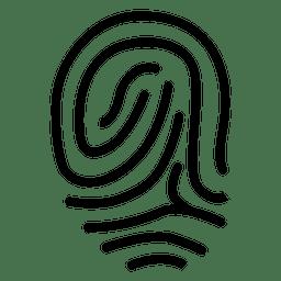 La huella dactilar remolina curvas