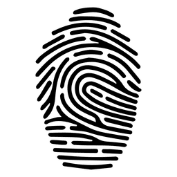 Human fingerprint silhouette
