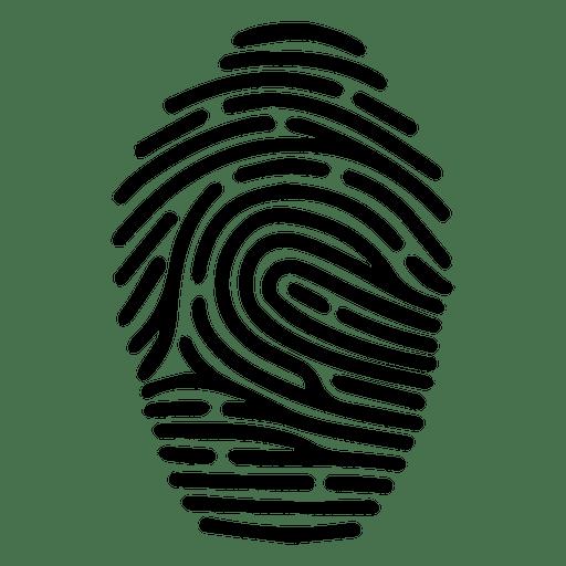 Human fingerprint silhouette Transparent PNG