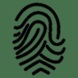 Desenho de impressão digital rodado