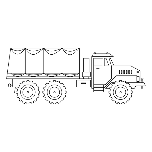 Big wheeled lorry png