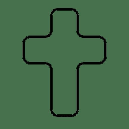 Icono De Contorno De Cruz De Religion